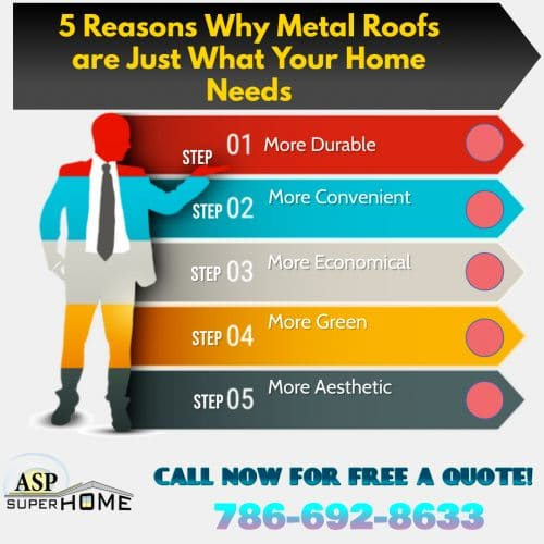 Metal roofing specialists in Miami FL, 5 Reasons Why Metal Roofs are Just What Your Home Needs